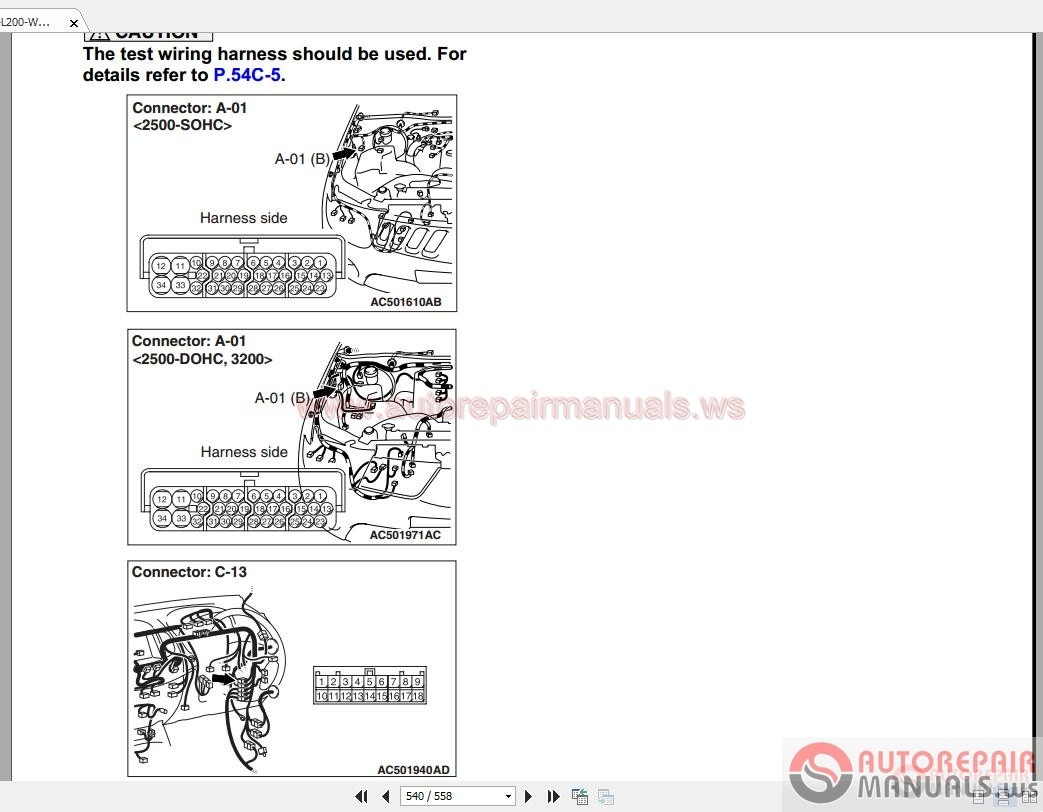 2011 Mitsubishi Triton Workshop Manual