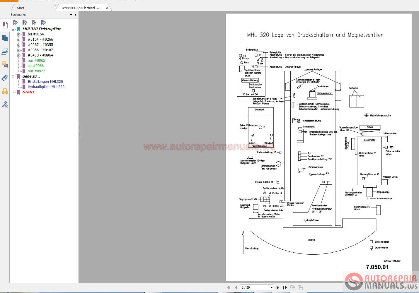 Terex Mhl320 Electrical Diagram