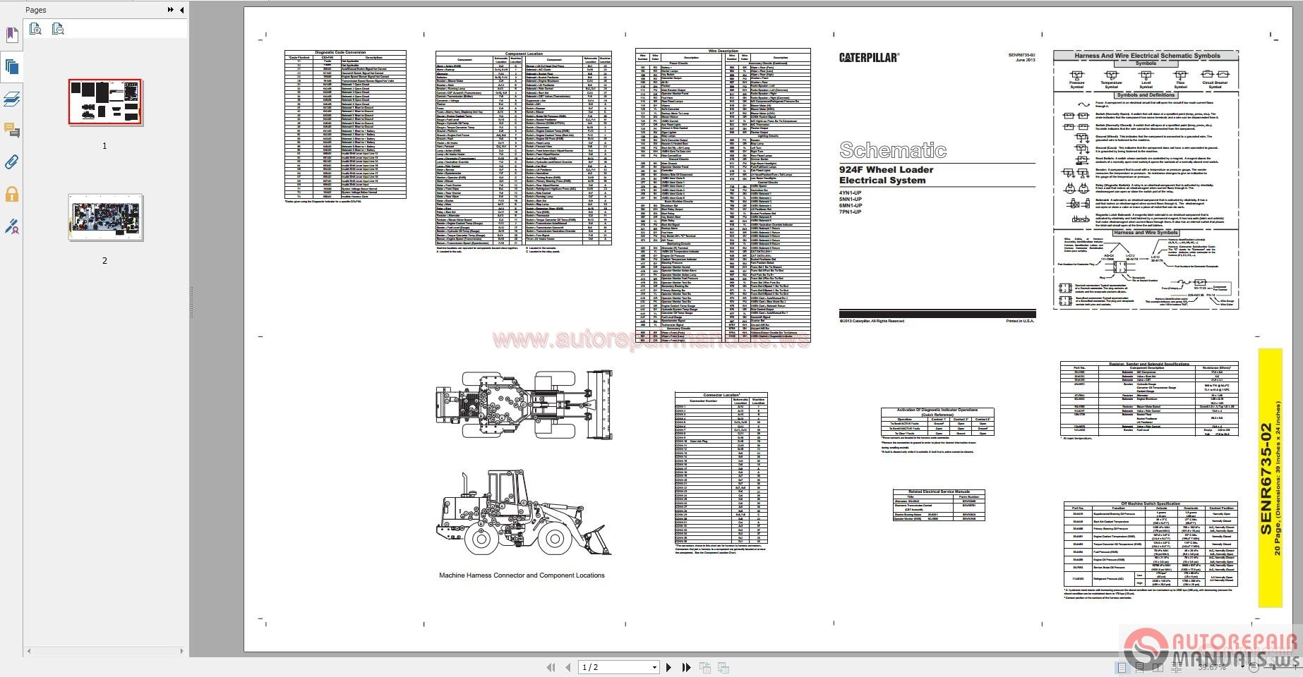 Caterpillar 3408c download Manual service