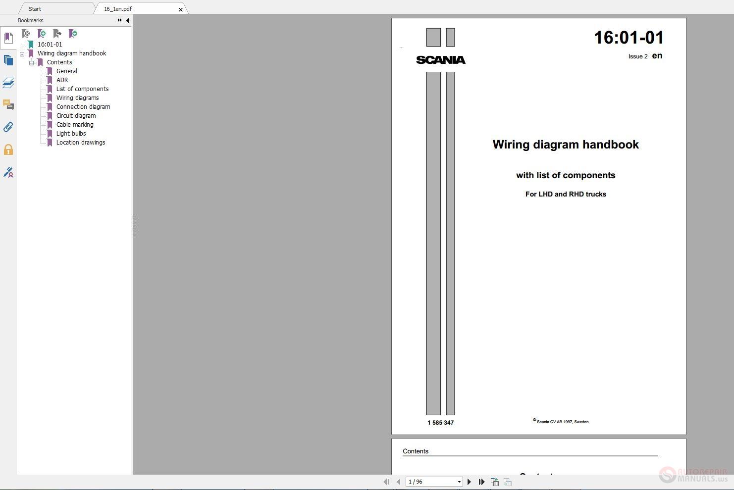 Scania Dc12 Workshop Manual Pdf Download 1611226 Academia 113 Wiring Diagram Truck Electronic Training Auto Repair