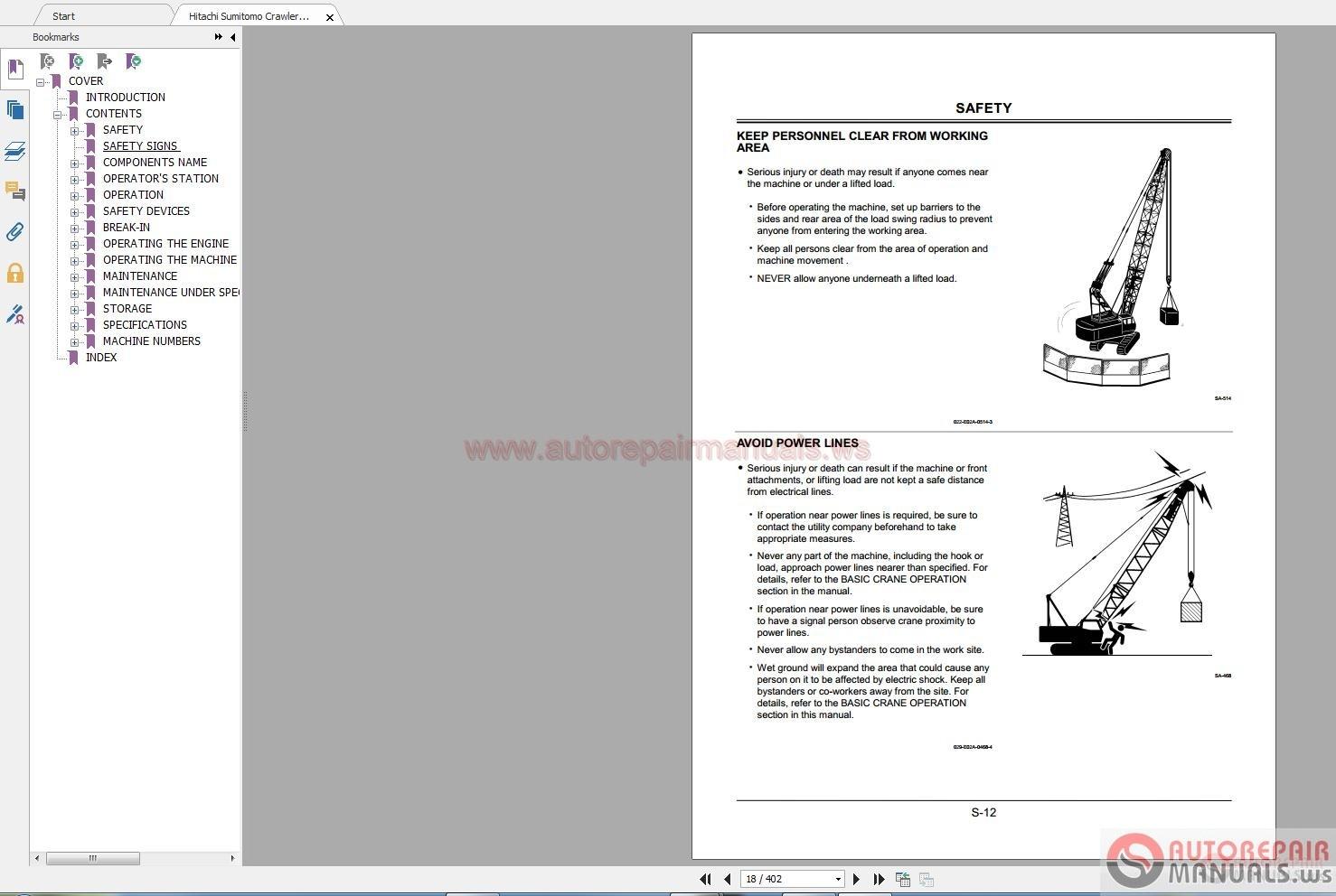 Hitachi Sumitomo Crawler Crane SCX1200 Shop Manual [ IMG] [ IMG] [ IMG] ...