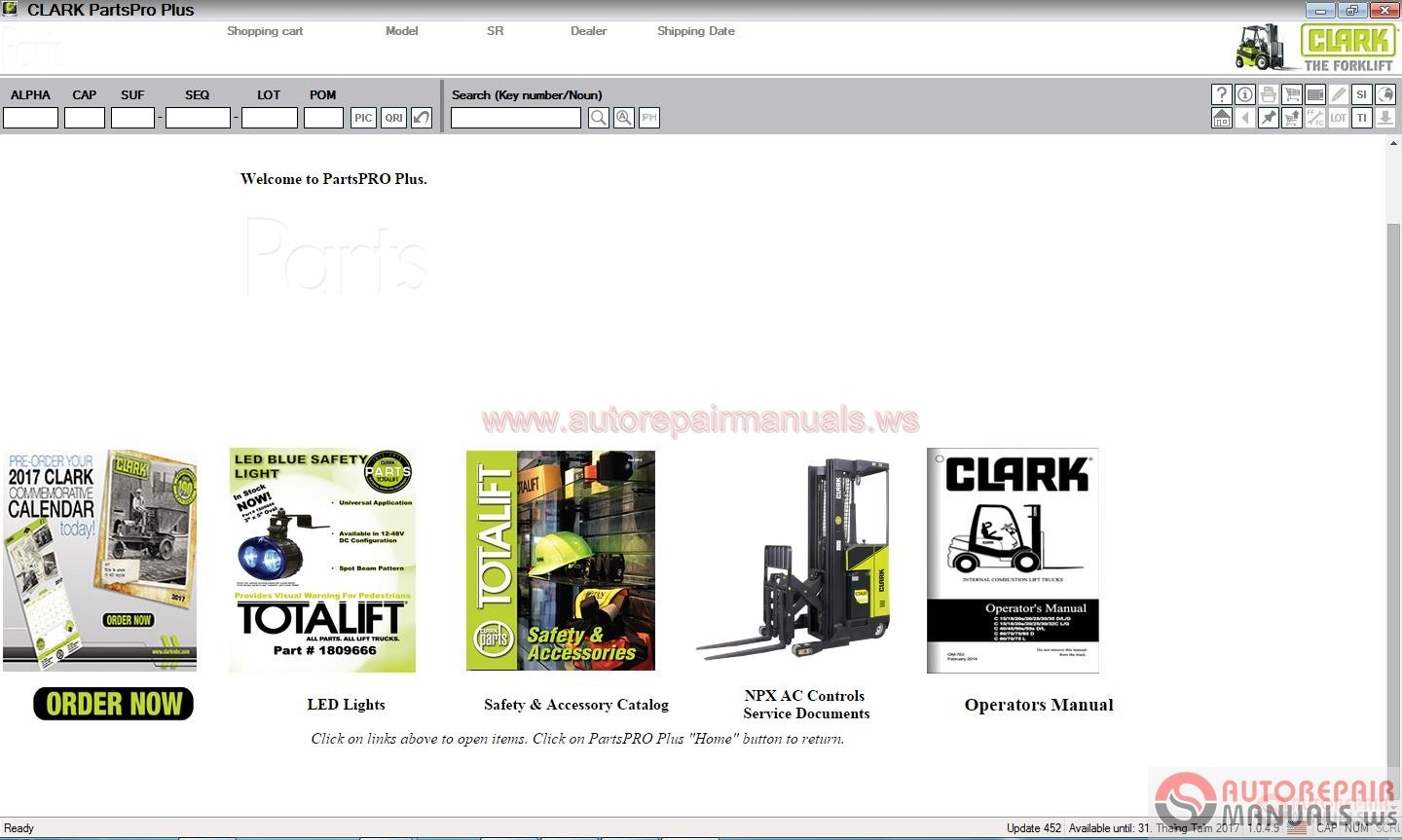 clark forklift parts pro plus v452  06 2017  full
