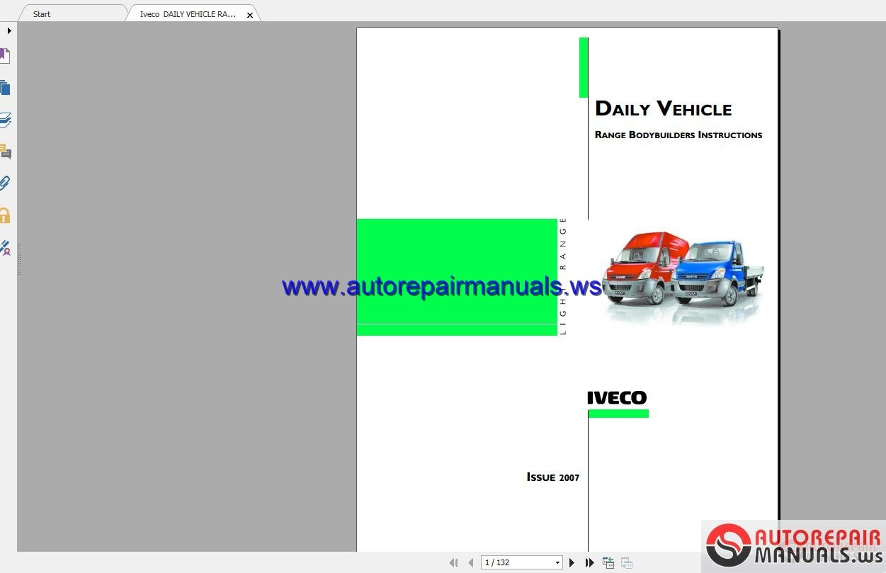 Iveco Daily Vehicle Range Bodybuilders Instructions
