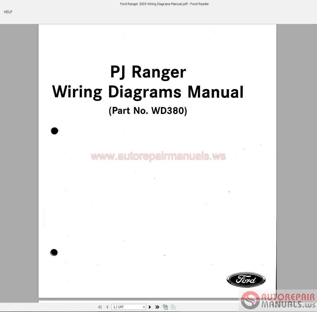 Ford Ranger 2005 Wiring Diagrams Manual