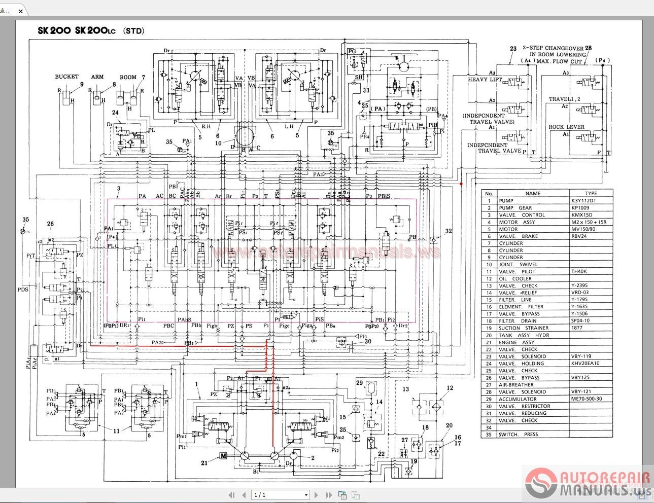 Kobelco_SK200 1_Hydraulic_Diagram 100 [ gl1200 shop manual ] gl1800 wiring diagram on gl1800 kobelco wiring diagram at aneh.co