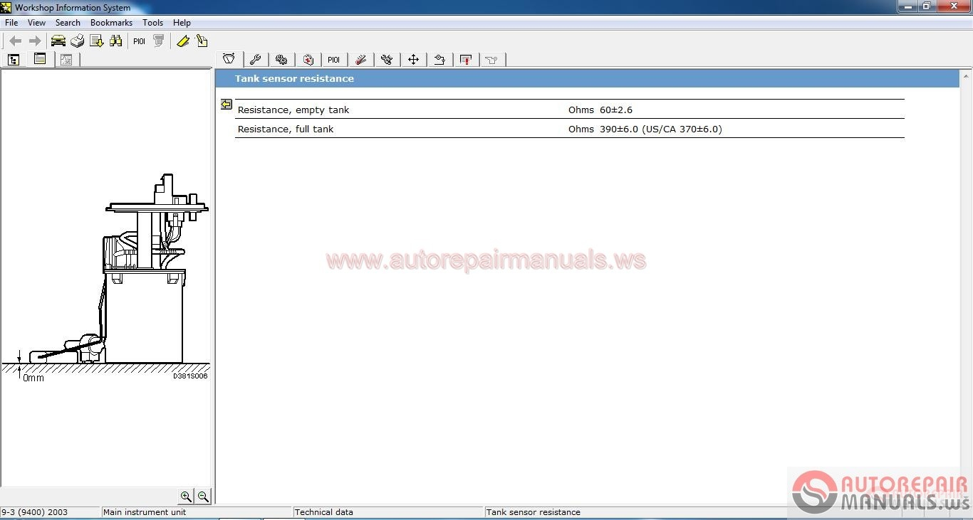 SAAB WIS Workshop Information System Auto
