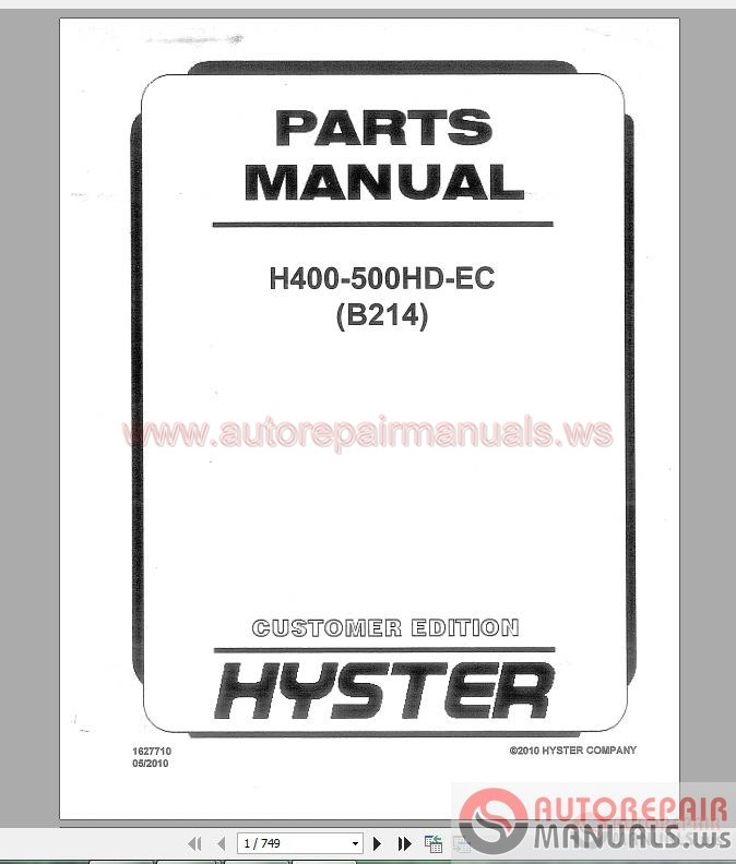 hyster forklift full shop manual dvd auto repair manual. Black Bedroom Furniture Sets. Home Design Ideas