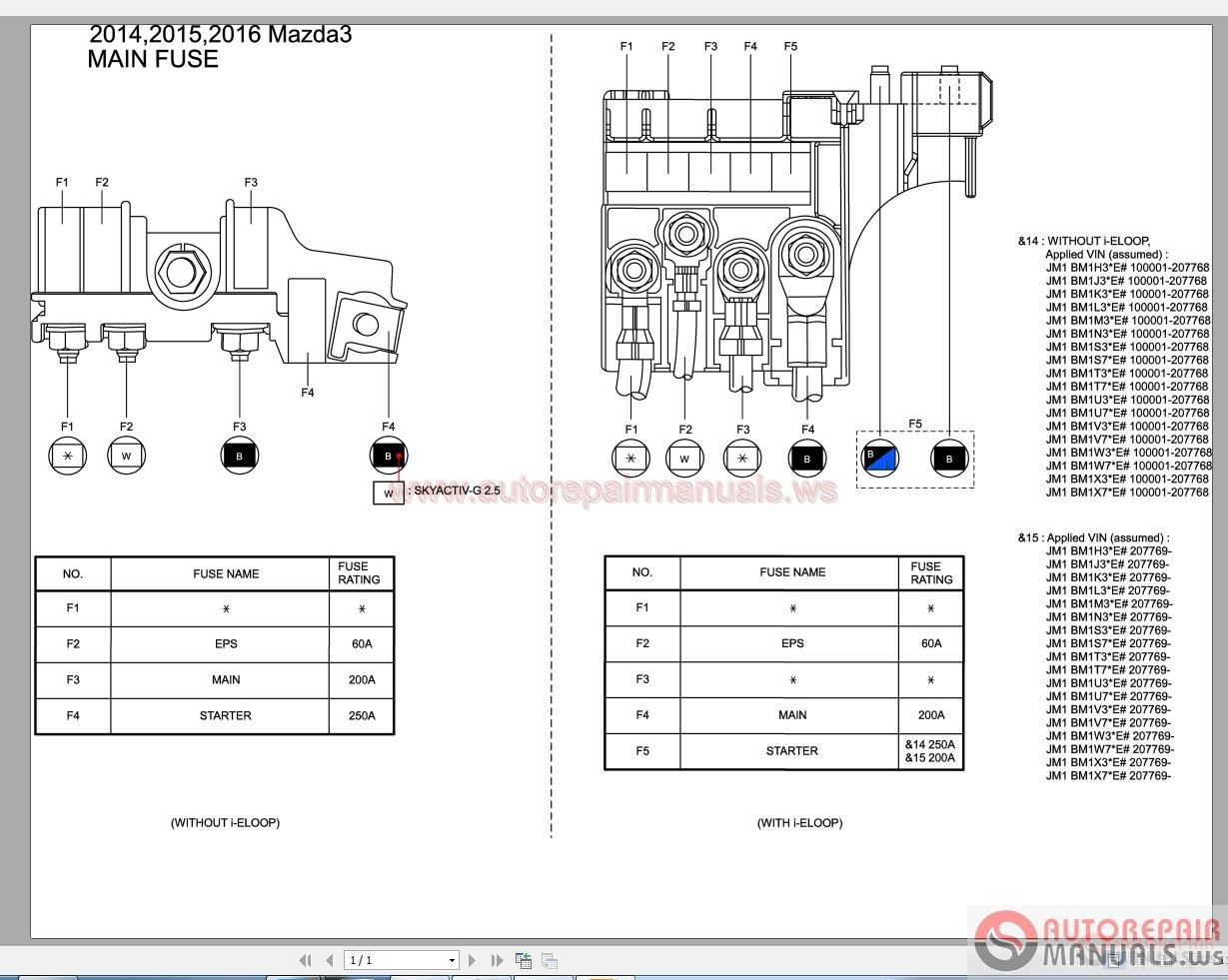 Mazda gg  wiring diagrams tribute