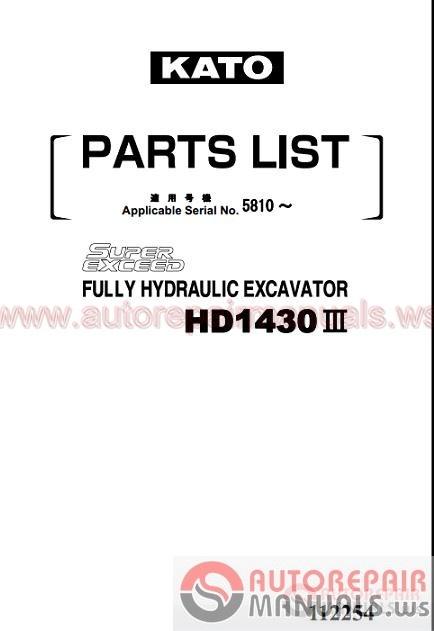 kato full shop manual dvd