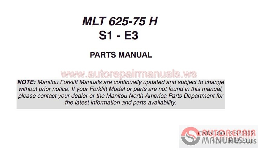 Auto Repair Manuals  Manitou All Model Full Shop Manual Dvd