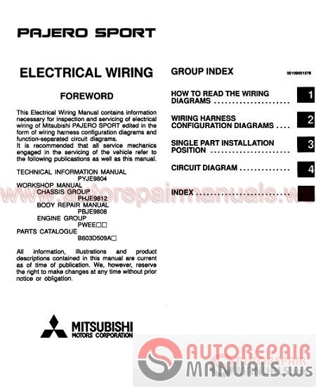Mitsubishi All Model Full Shop Manual Dvd