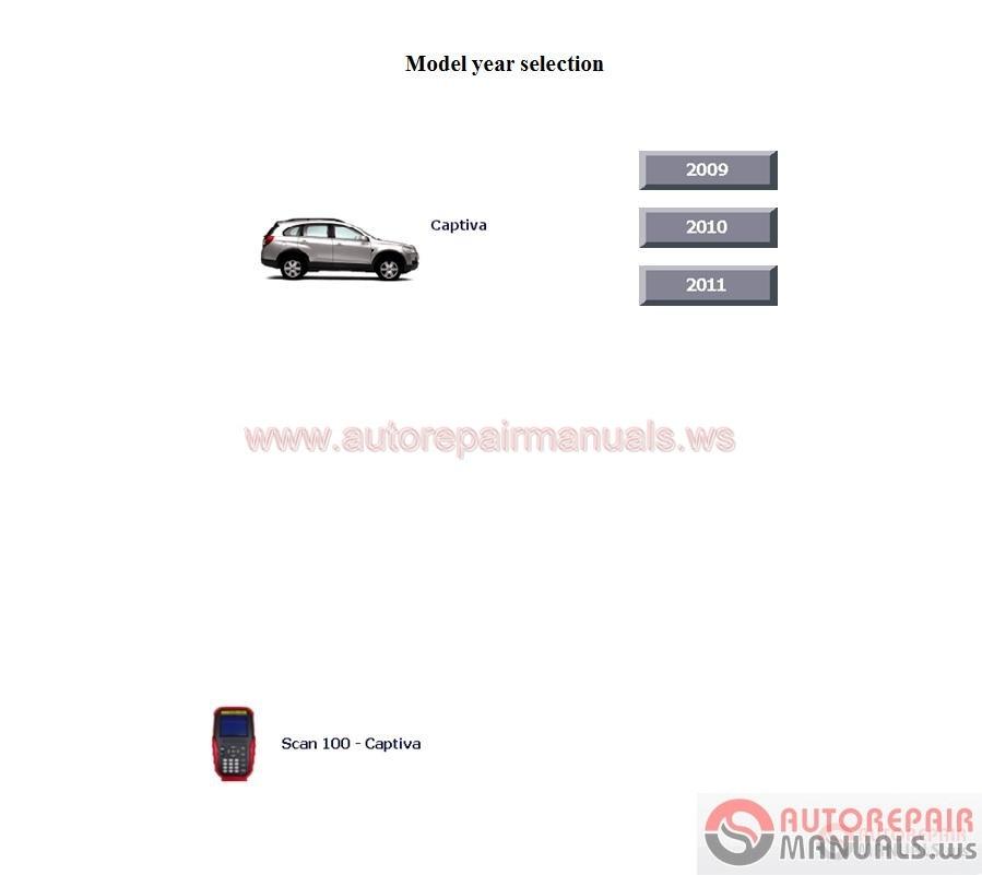 Chevrolet Euro Service Manual 2009
