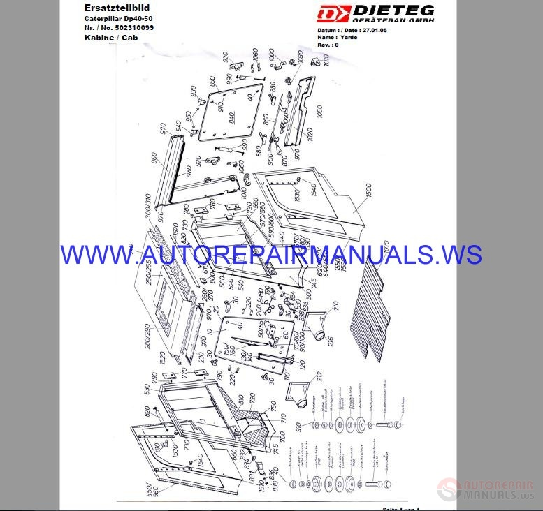 cat parts manual dp40