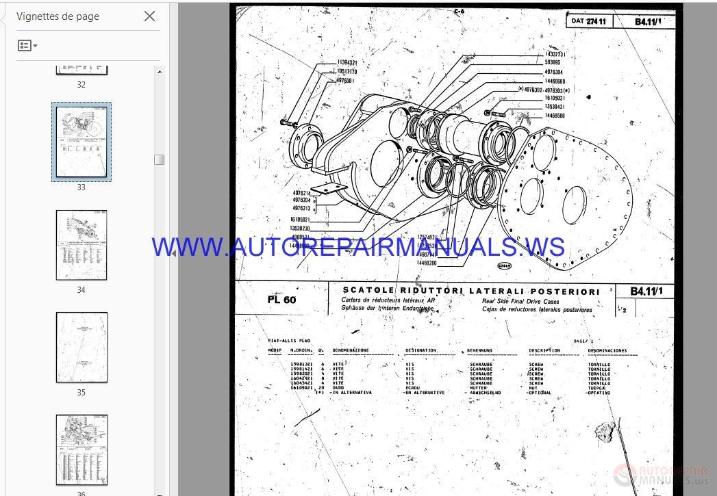 Allis Chalmers Construction Amp Fiat Allis Pipe Layers Parts