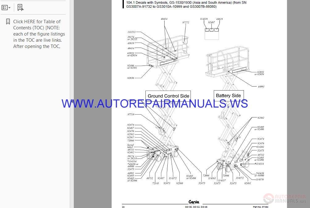 Genie Scissors Lift Parts Manual | Auto Repair Manual Forum - Heavy