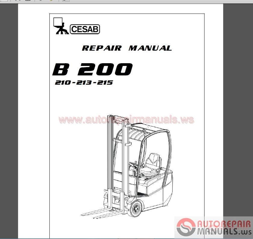 cesab forklift 2017 shop manual dvd
