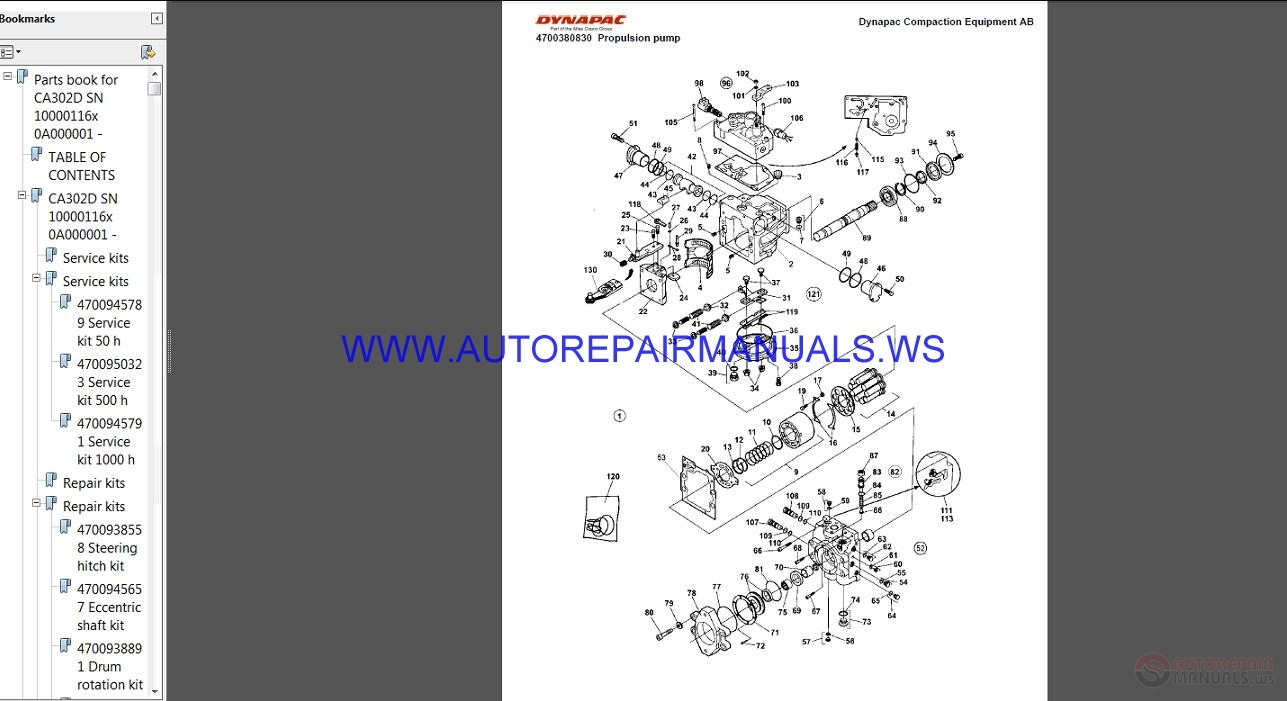 Dynapac Full Set Spare Parts Catalogue Dvd on Auto Repair Manuals Online Free