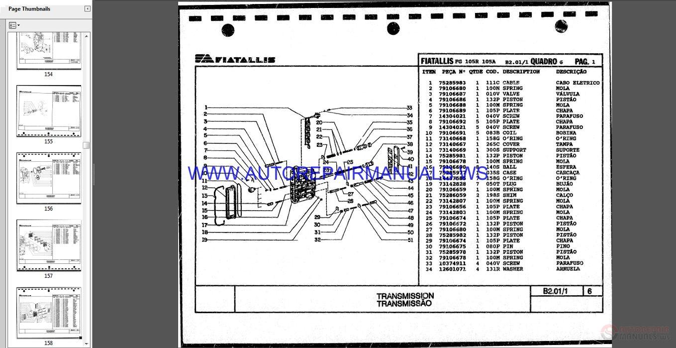 Fiat Allis Motor Grader Full Set Parts Catalog Dvd Auto