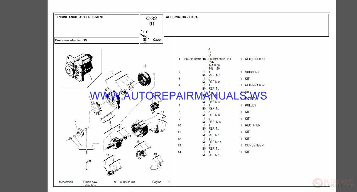 Mccormick Full Set Parts Manual Dvd
