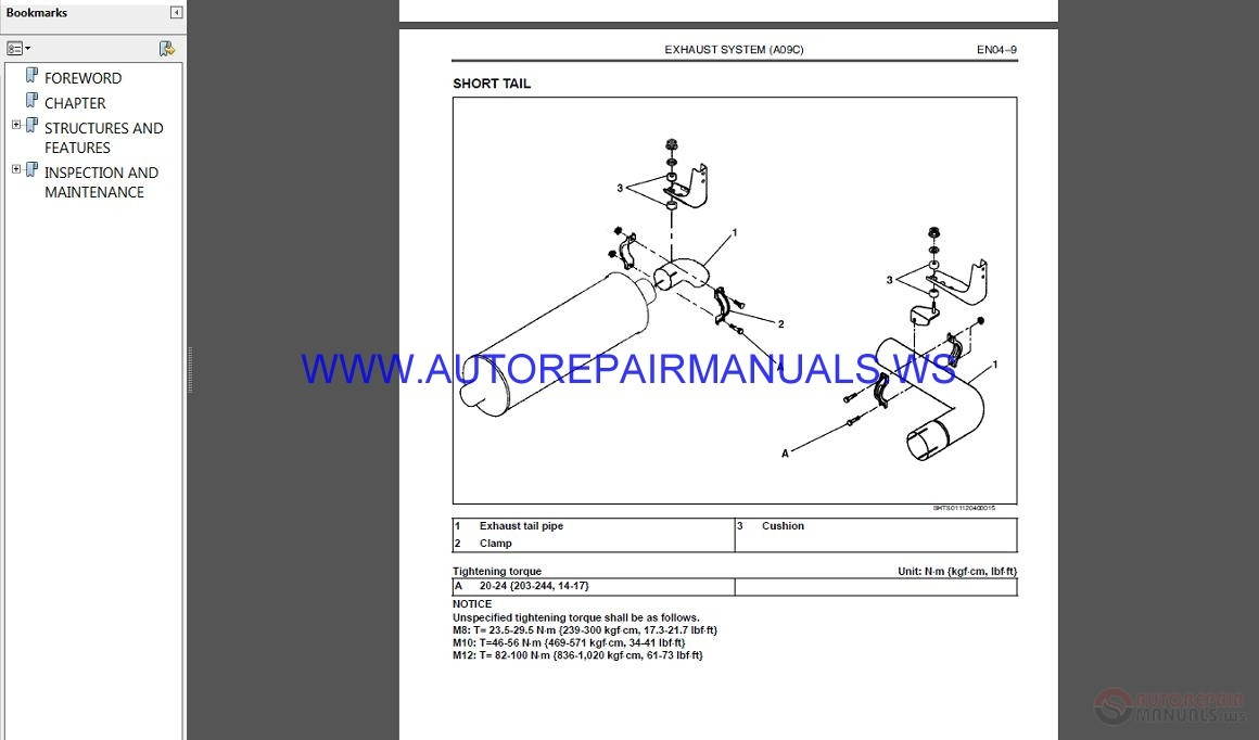 Hino Truck Engine A09c Service Manual