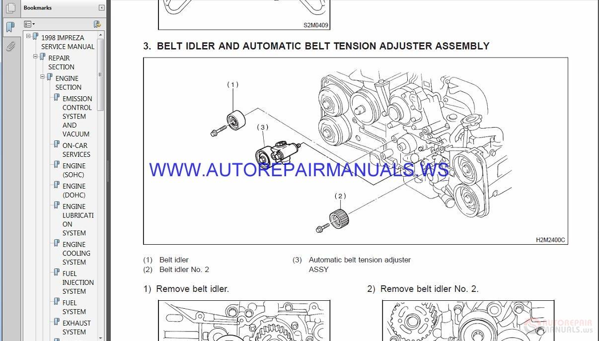 Subaru Impreza G10 1998 Service Manual