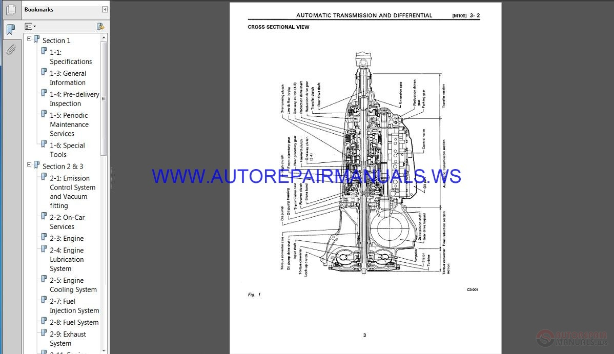 Subaru Svx C10 1993 Service Manual