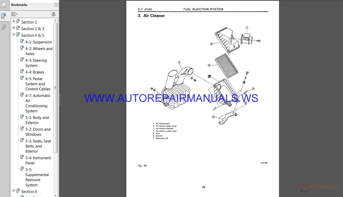 Subaru Svx C10 1994 Service Manual