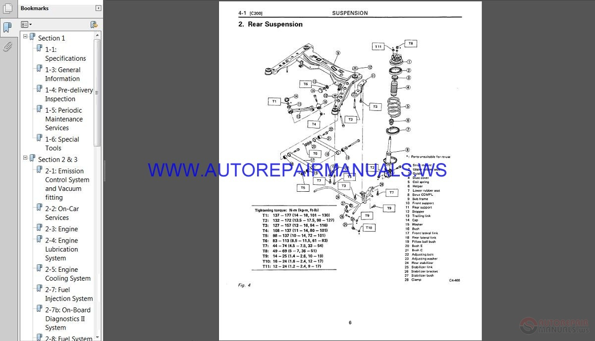 Subaru Svx C10 1997 Service Manual
