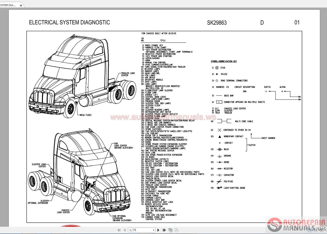 peterbilt shematic diagram 387 electrical