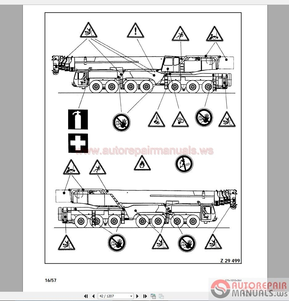 terex ac400 sn79068  g  shop manual