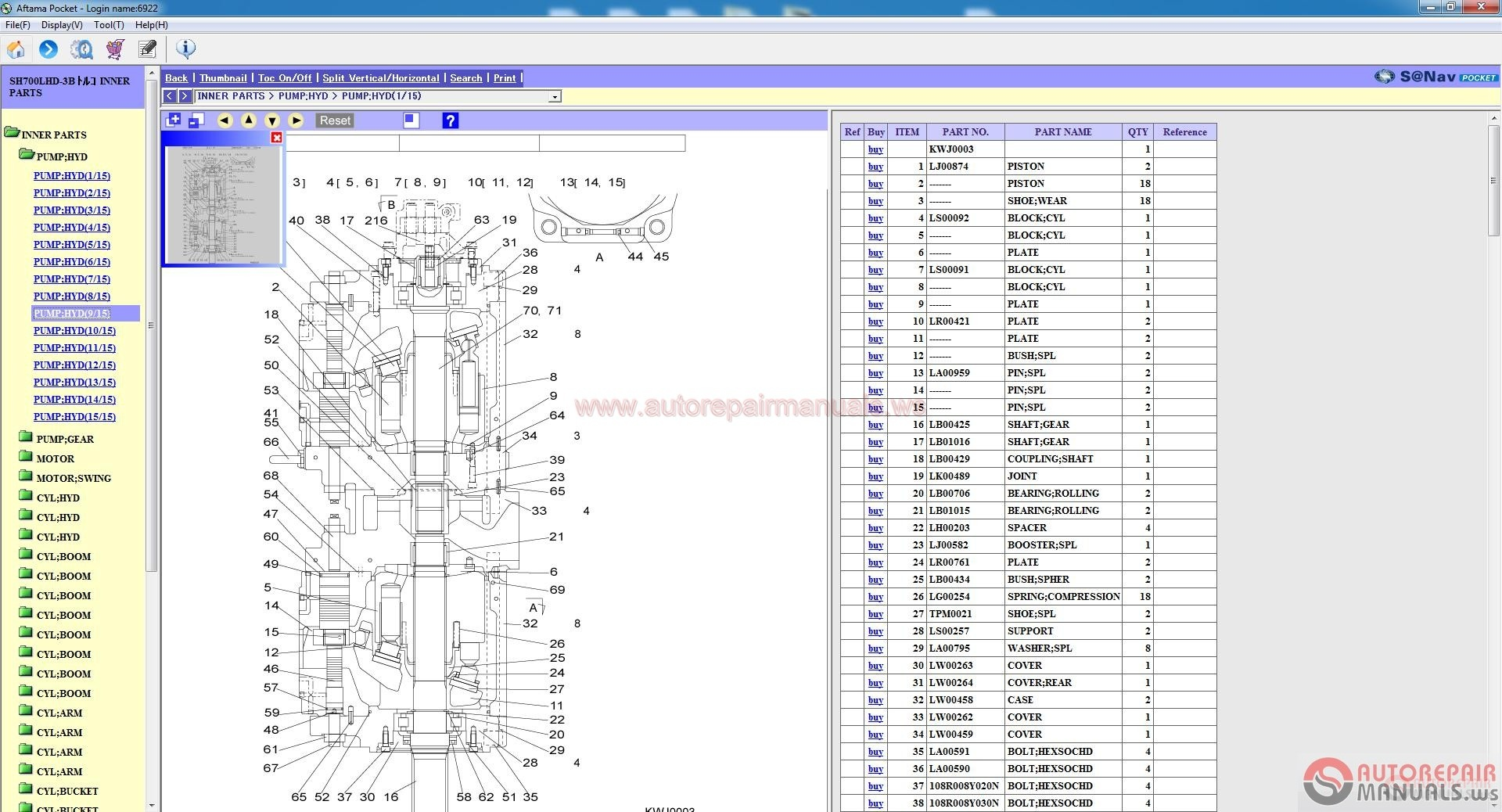 Sumitomo Excavator Parts Catalogs For Turkey  01 2010
