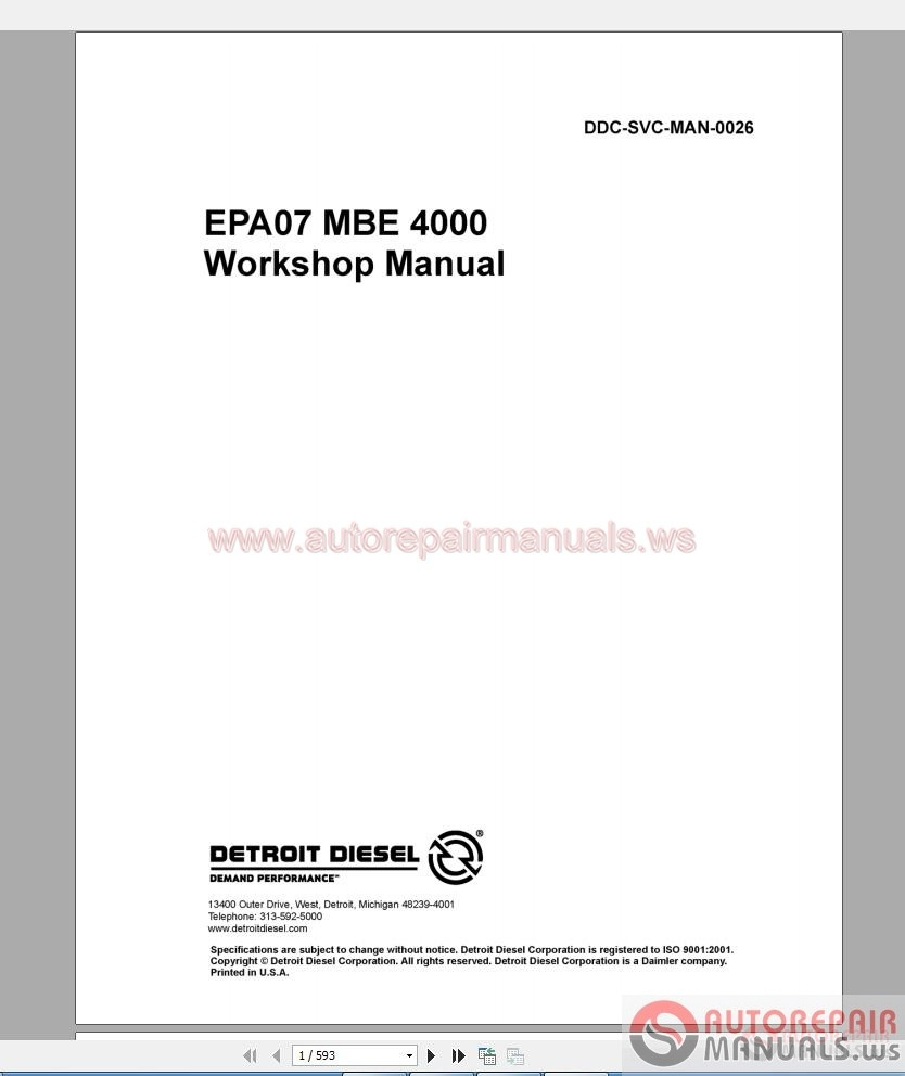Detroit Truck Service Manual Cd