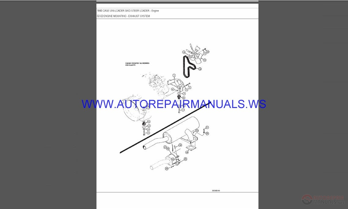 Case 1840 Uni Loader Parts Catalog