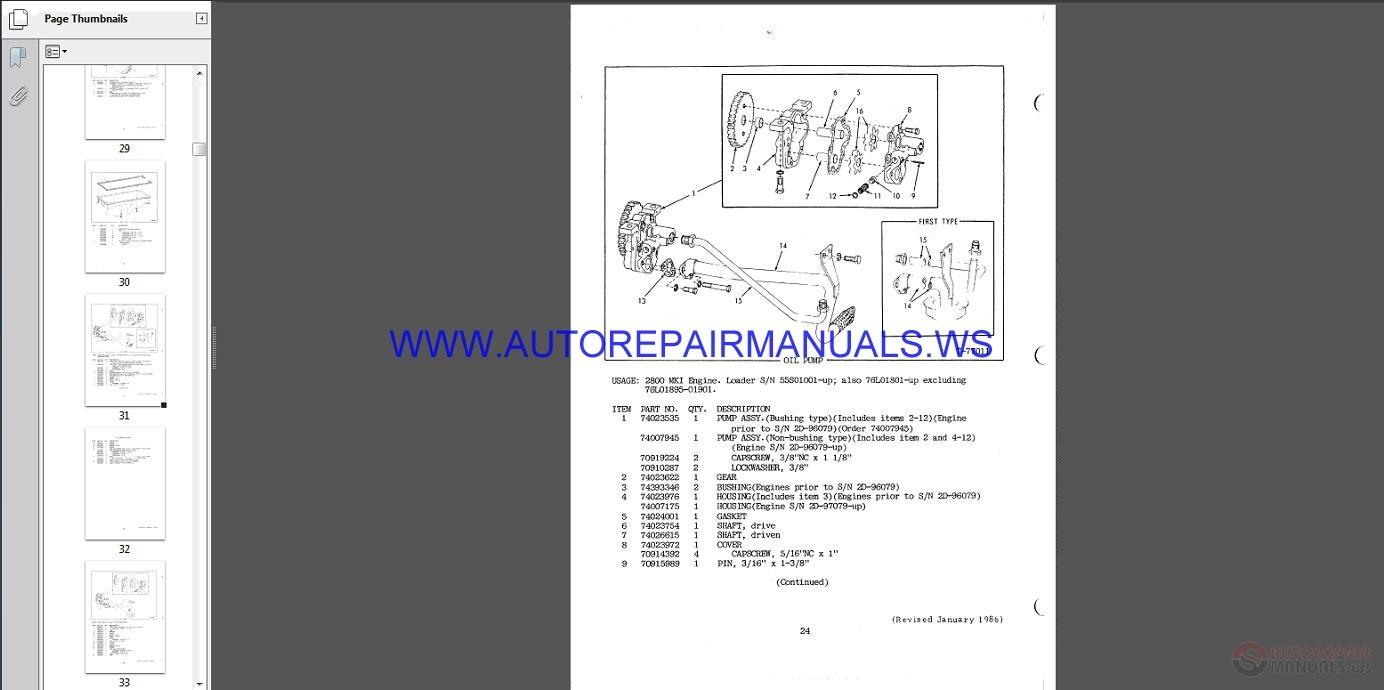 Fiat Allis Wheel Loader 345B Parts Catalog Size: 8.24 Mb Language: English  Type: pdf. Pages: 271. 345B [ IMG] [ IMG]
