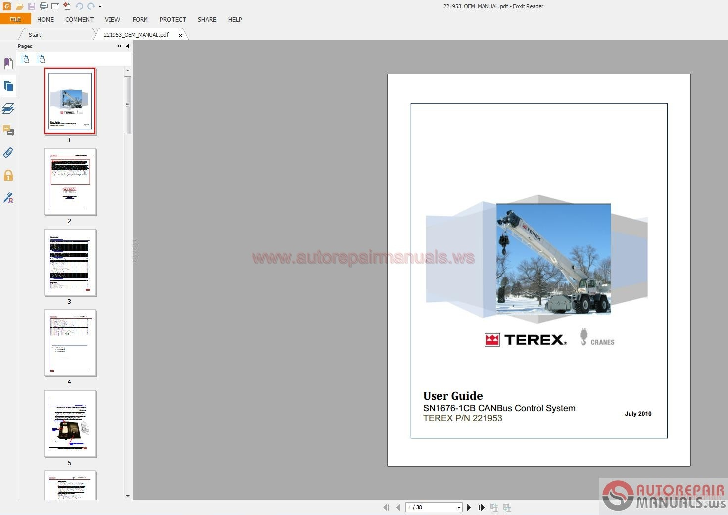 Terex Crane T340-1 Xl Workshop Manual