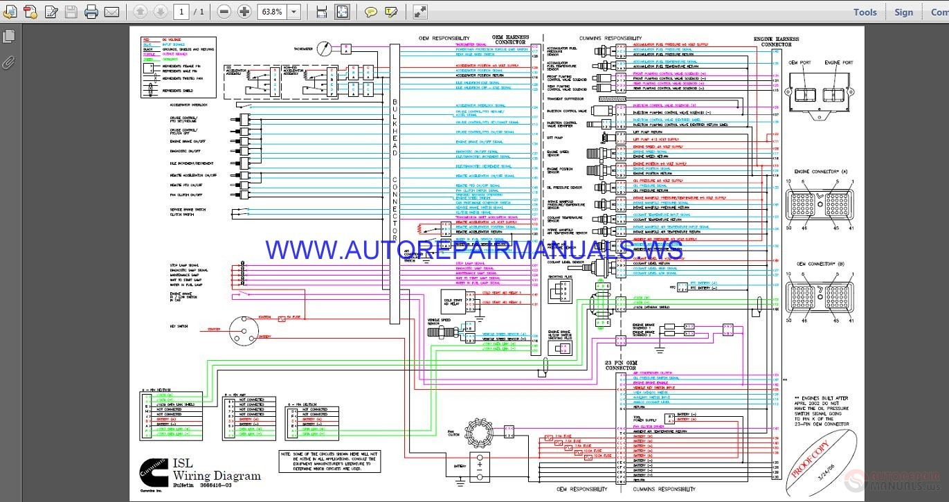 Cummins ISL    Wiring       Diagram    Manual   Auto Repair Manual