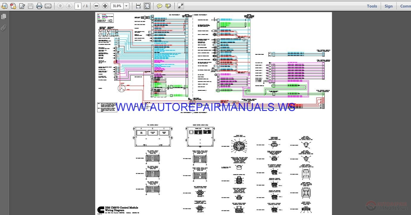 Cummins M11 Ecm Wiring Diagram General Data Mins Ism Engine 290 Odicis Pinout Electrical
