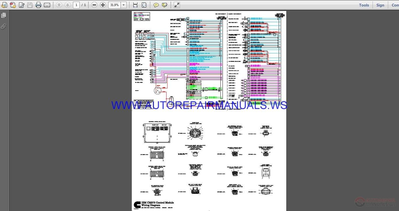 Cummins Ism Cm875 Control Module Wiring Diagram Manual