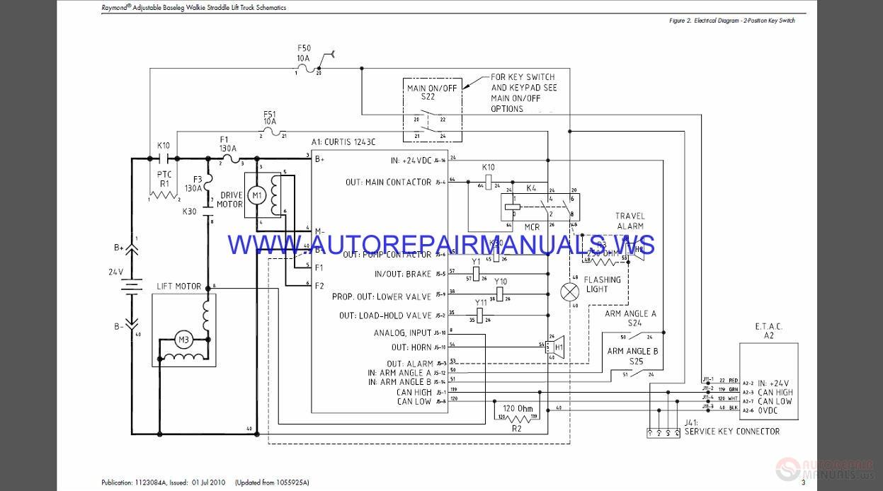 raymond ra520-25 adjustable baseleg walkie staddle lift ... kalmar forklift wiring diagram #3