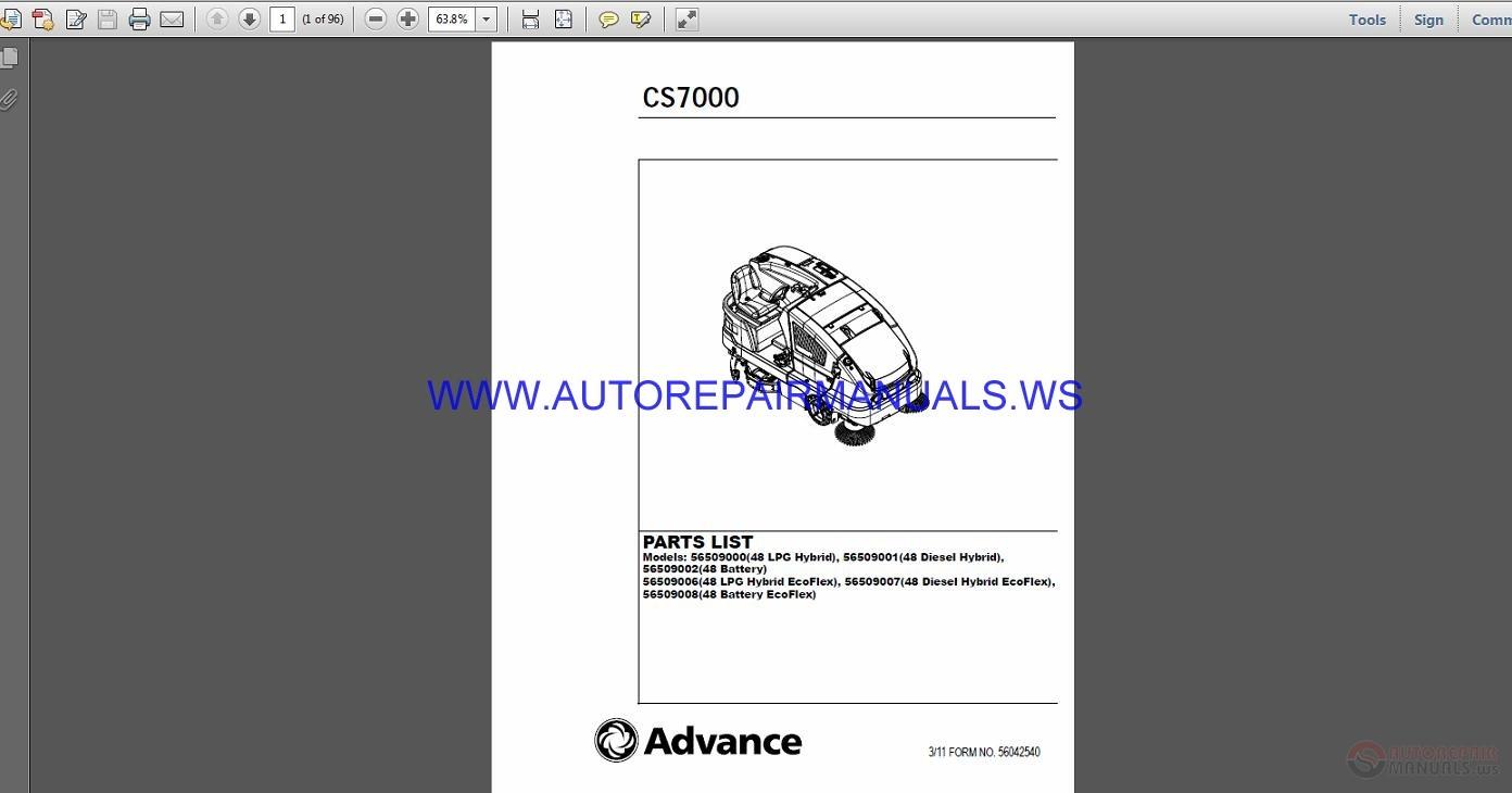 advance auto parts manuals