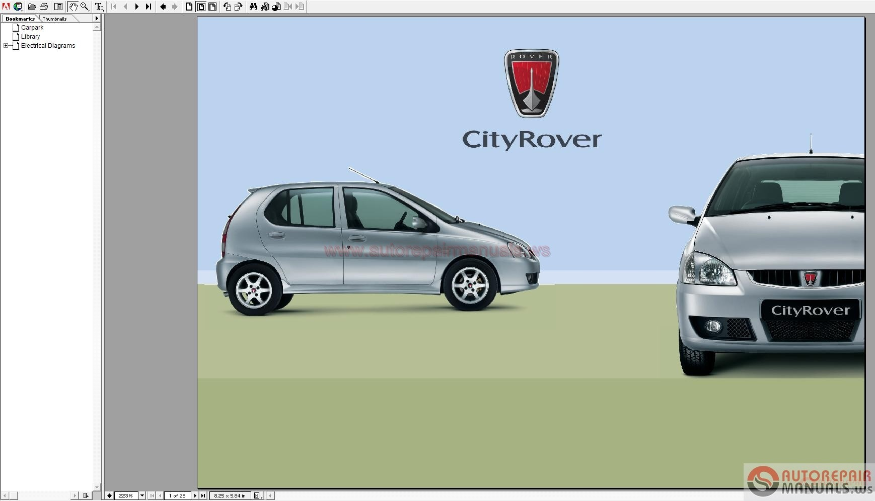 Mg City Rover Workshop Manuals
