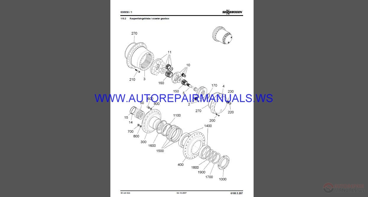 Sennebogen 6100 5 207 Service Manual