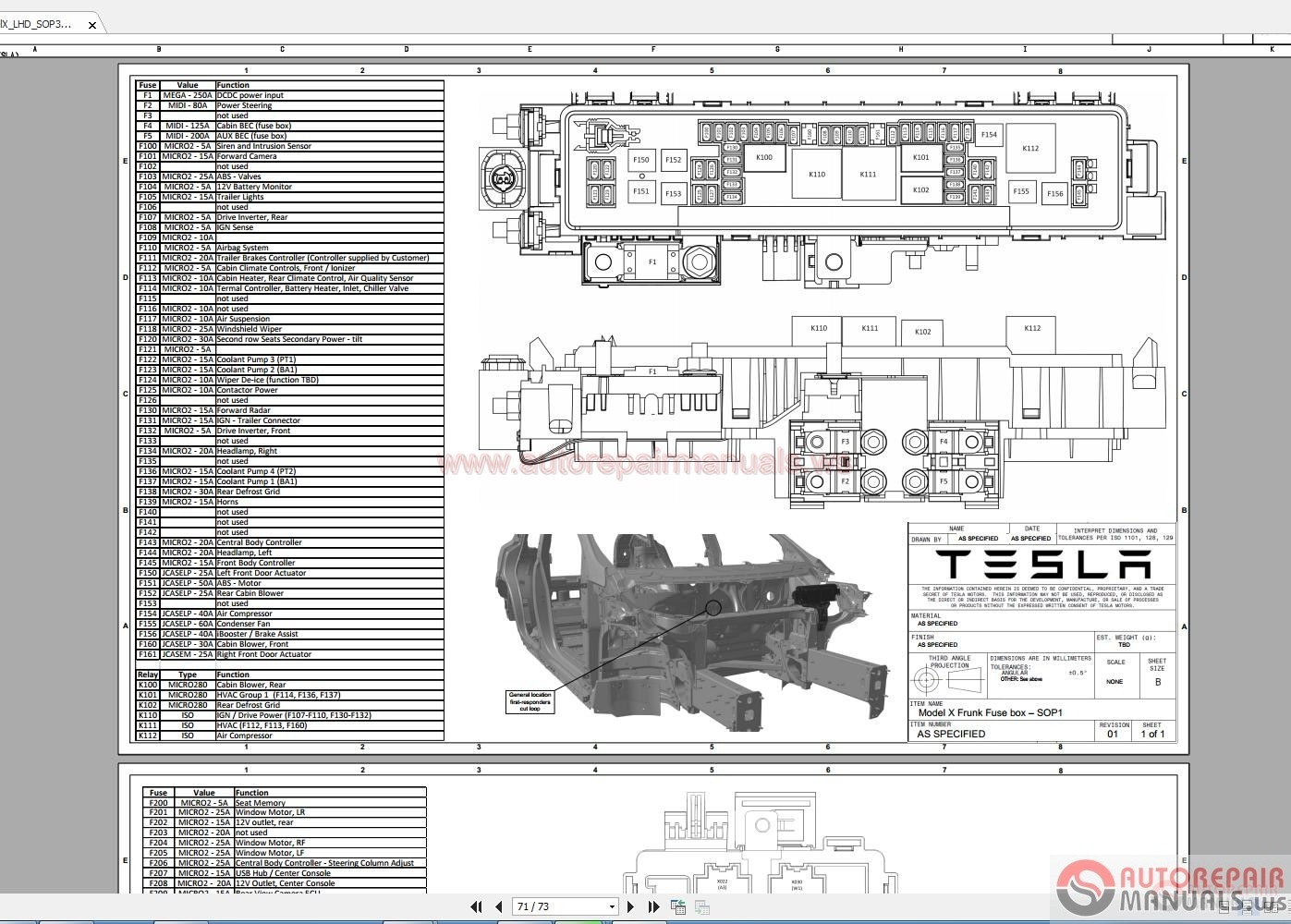 Tesla Model X 20152016 Workshop Manual   Auto Repair