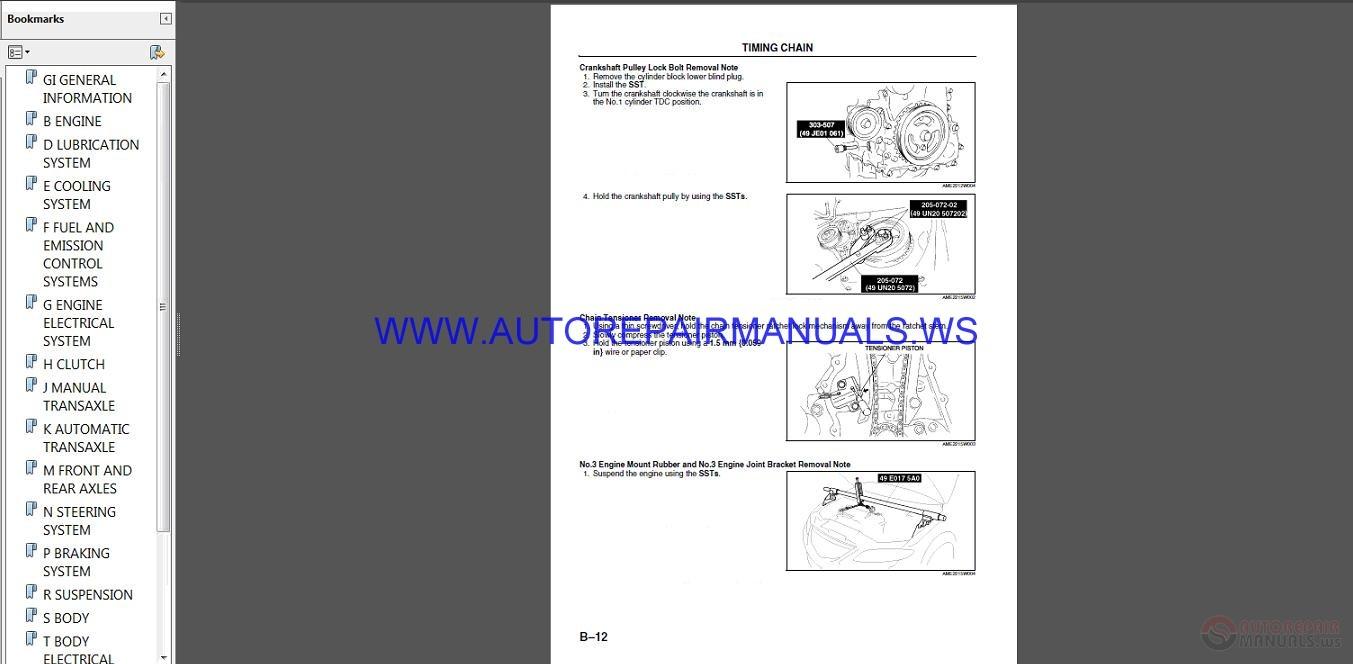 Mazda 6 Workshop Manual