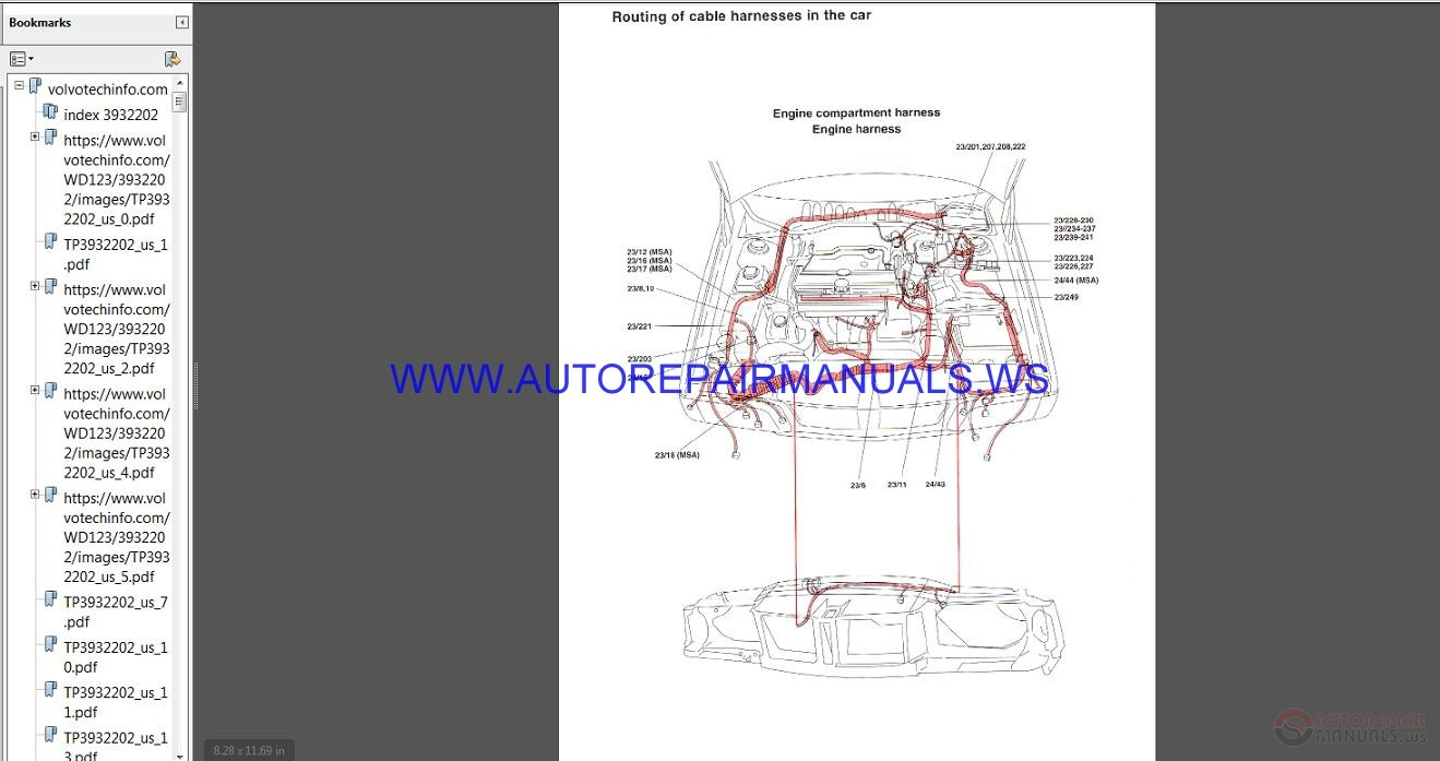Volvo SUB Wiring    Diagram       1994      2005    Manual   Auto Repair