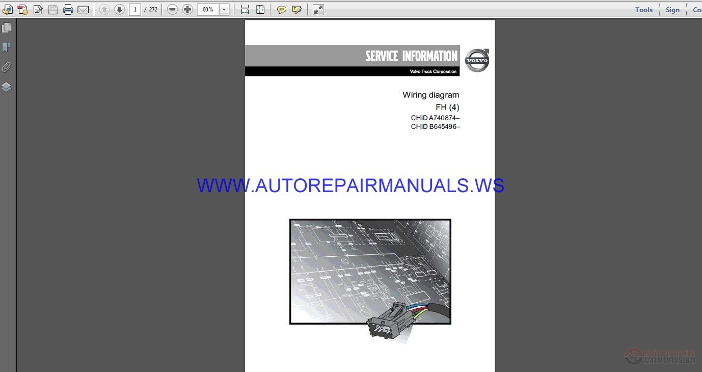 Volvo Trucks Corporation Fh4 Wiring Diagram Service Manual