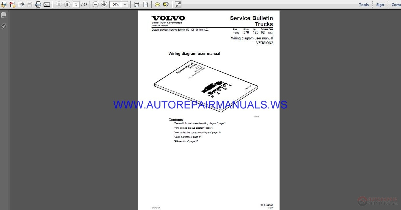 Volvo Trucks Corporation Version2 Wiring Diagram User