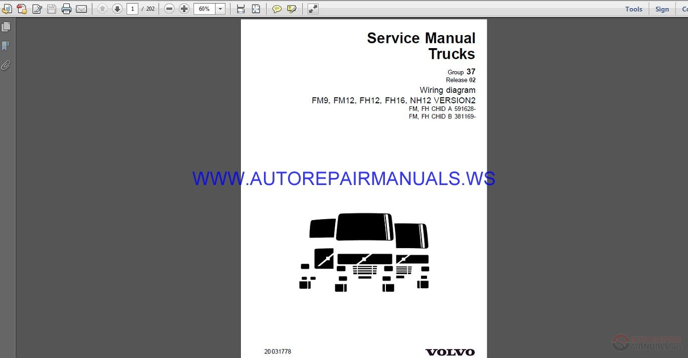 volvo trucks fh12 wiring diagram  wd  service manual