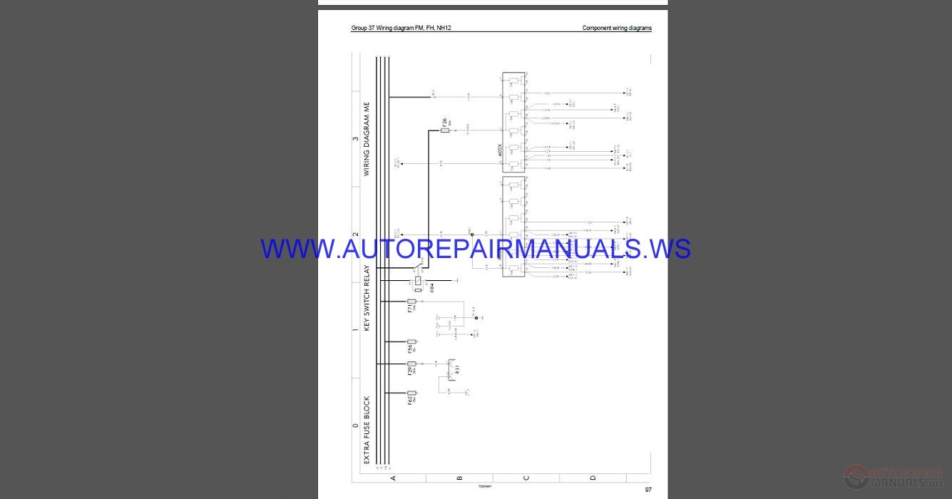 Volvo Trucks Fh Wiring Diagram  Wd  Service Manual