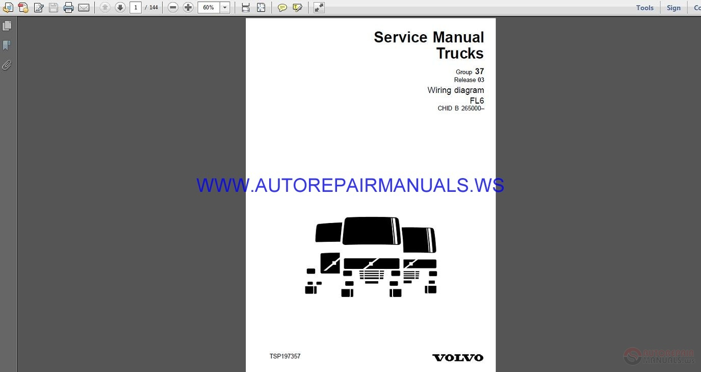 Volvo Trucks Fl6 Wiring Diagram Service Manual